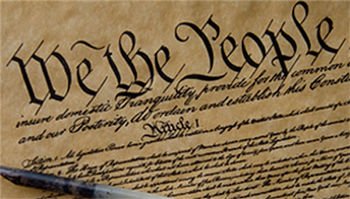 Image of the part of the U.S. Constitution