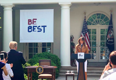 Melania Trump at White House Be Best event