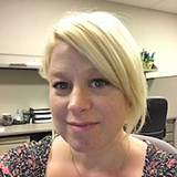 Photo of Catherine Brown, new administrative assistant in the Exam and Research Data Services Office.
