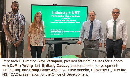 University IT meeting with Development Director Brittany Causey