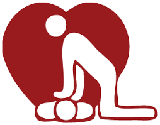 Image of person giving CPR and leaning over someone on the ground.