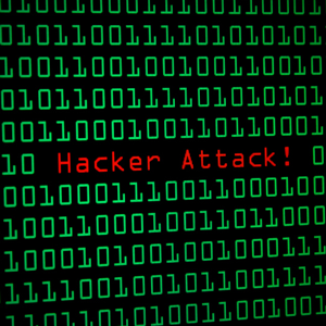 image that says hacker attack