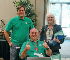 Mike Spice, Chris Stoermer, Dorothy Flores at IT Works Conference