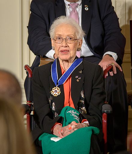 Katherine Johnson, 2015 recipient of the Presidential Medal of Freedom