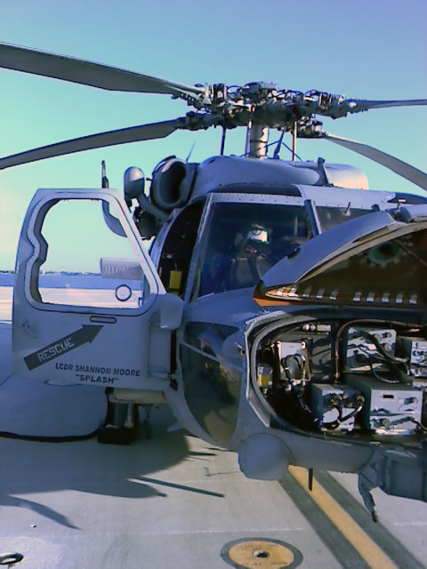 The helicopter on which Oscar Montero provided avionics maintenance
