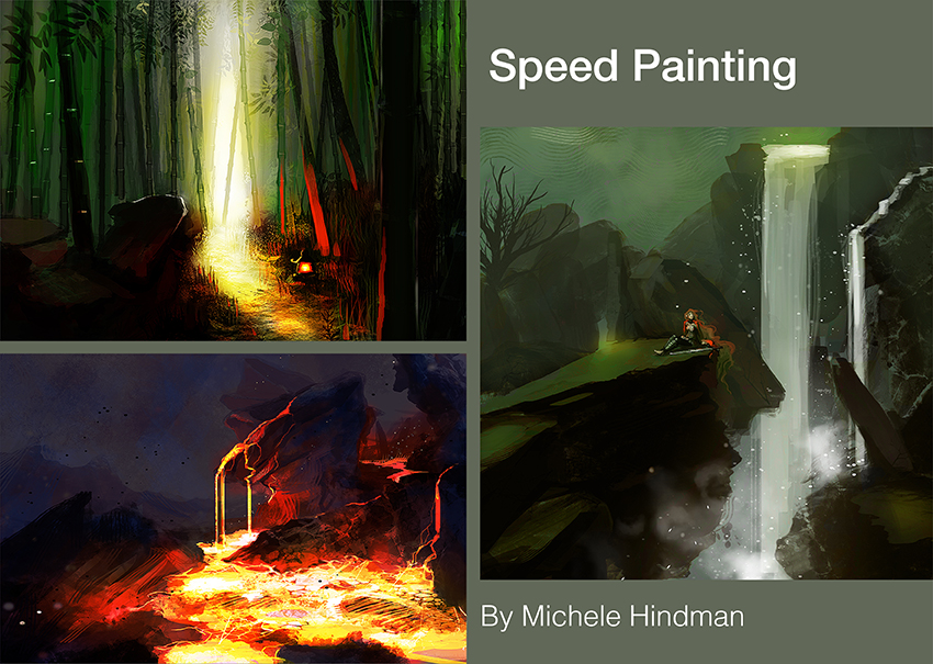 Speed painting examples by Michele Hindman