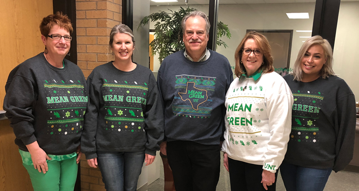 Left to right, Elizabeth Hinkle-Turner, Mari Jo French, Philip Baczewski, Karen Snyder and Clarissa Hutkowski on sweatshirt Friday.